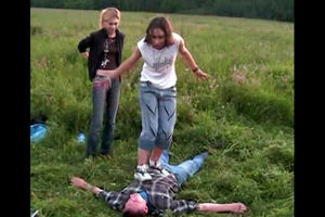 Ukrainian virgins stomp a man who paid..