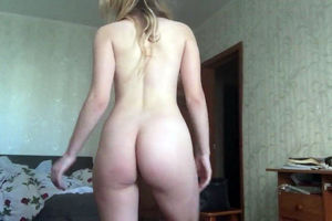Big-chested blond nubile draining with..